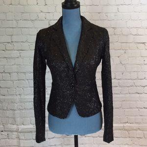 MM Couture black sequins blazer
